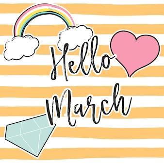Olá março