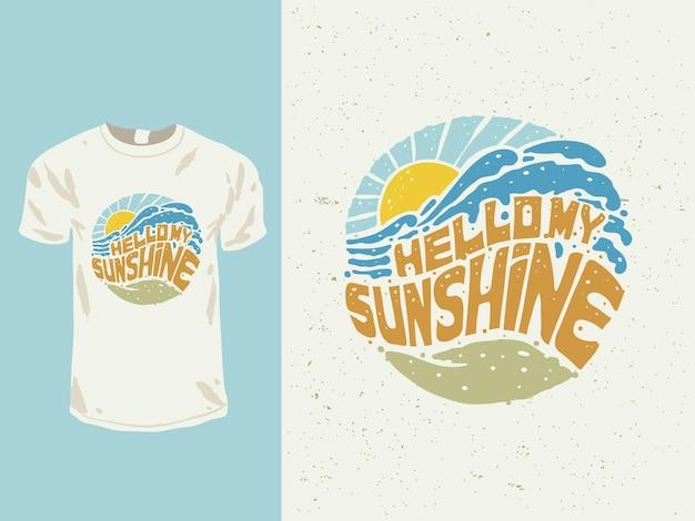 Olá minha camiseta do raio de sol