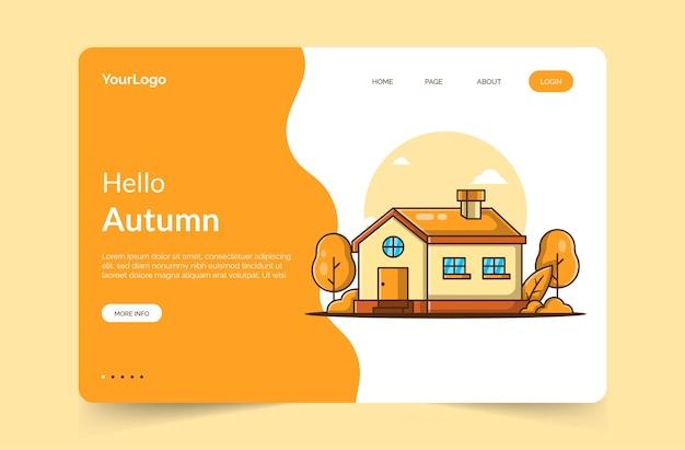Olá, modelo de página de destino de outono