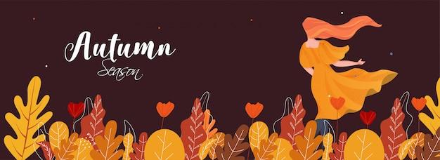 Olá outono banner.