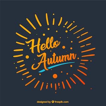 Olá outono, cores brilhantes