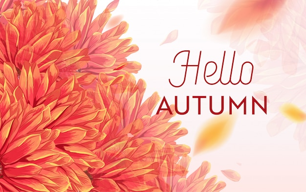 Olá outono floral design. outono sazonal floral