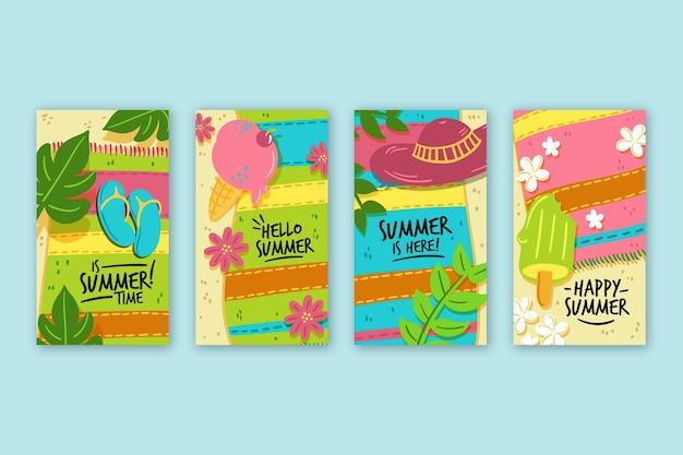 Olá pacote de histórias do instagram de venda de verão
