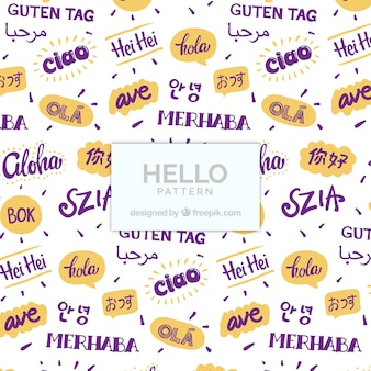 Olá padrão em diferentes idiomas