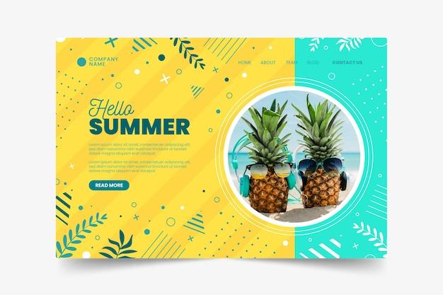 Olá, página de destino de verão exótico