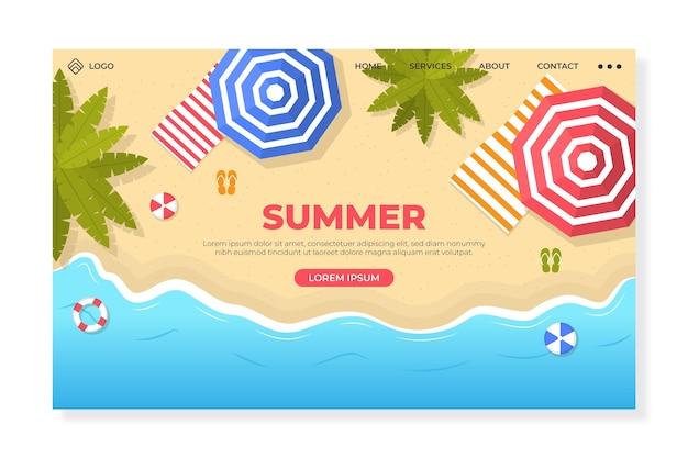 Olá página de destino do verão