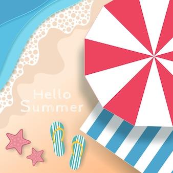 Ola praia de verão