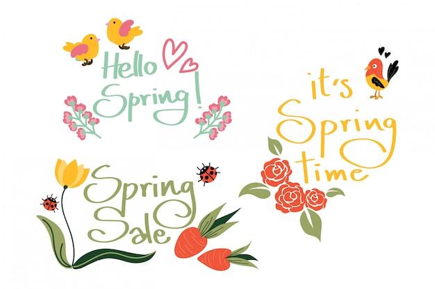 Olá primavera coleção.