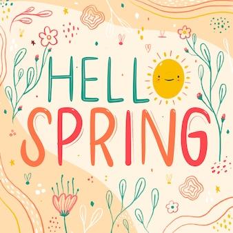 Olá primavera colorida
