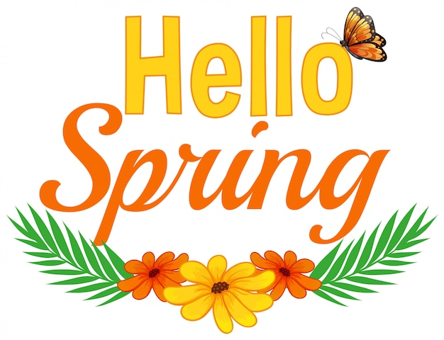 Olá primavera texto da natureza