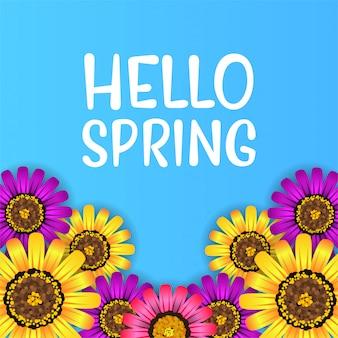 Olá primavera vista superior flor flor