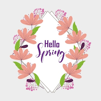 Olá quadro de primavera