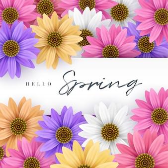 Olá quadro floral primavera