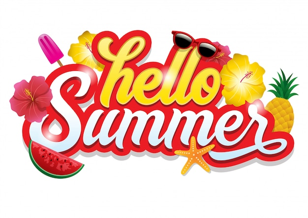 Olá saudação de verão