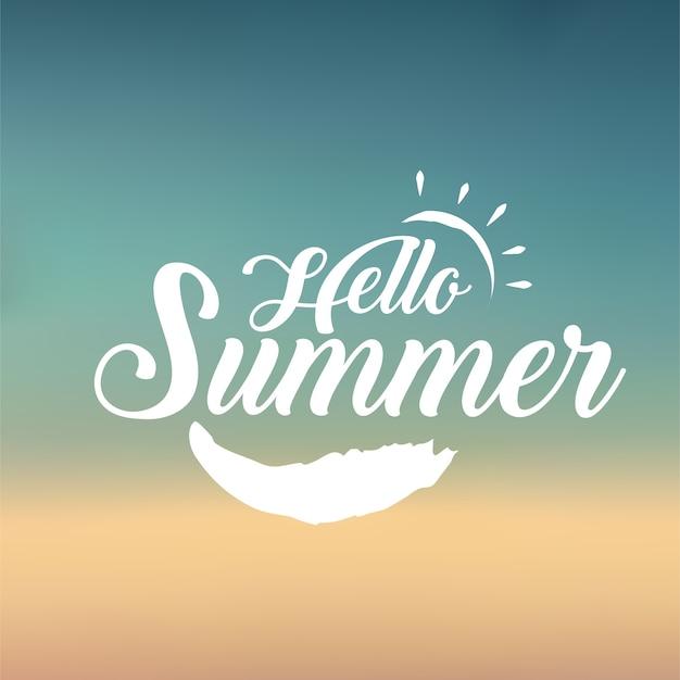 Olá sinal de verão