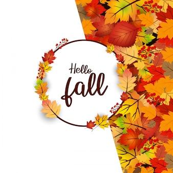 Olá tipografia de outono com vetor de design criativo