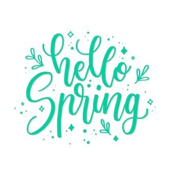 Olá tipografia de primavera