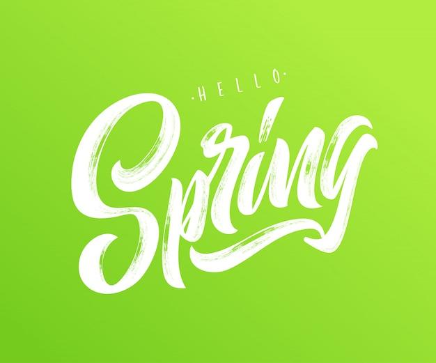 Olá tipografia primavera