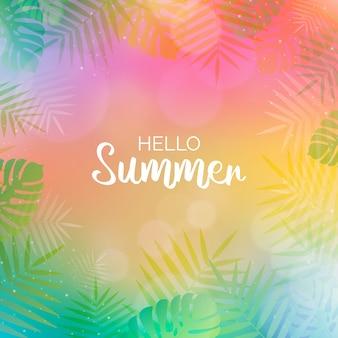 Olá turva conceito de verão