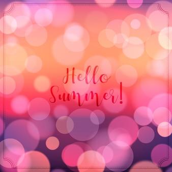 Olá turva efeito bokeh de verão