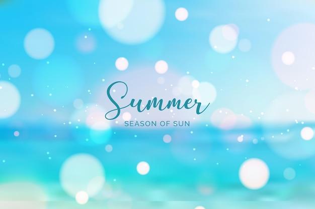 Olá turva verão com oceano