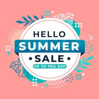 Olá venda de verão