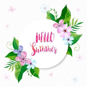 Olá verão com flores