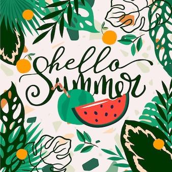 Olá verão com melancia