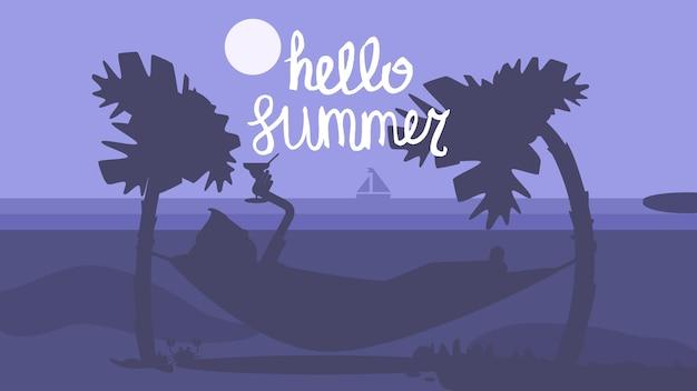 Olá verão concept