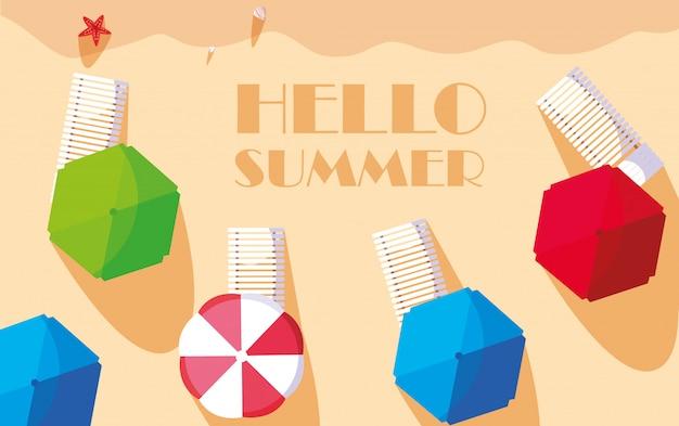 Olá verão e férias