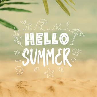 Olá verão; gravando com imagem