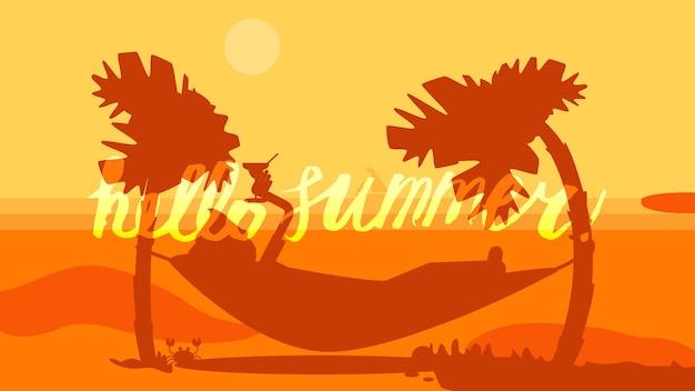 Olá verão lettering