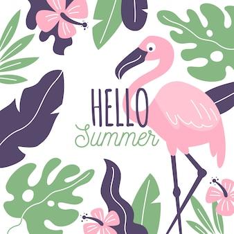Olá verão mão desenhada