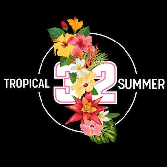 Olá verão tropic design background flores