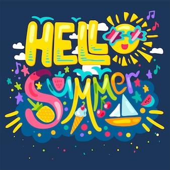 Olá verão tropical