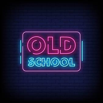 Old school neon signs estilo texto