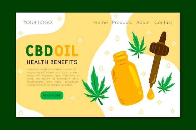 Óleo de cannabis - página de destino