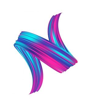 Óleo de pincelada colorida néon realista 3d ou tinta acrílica.