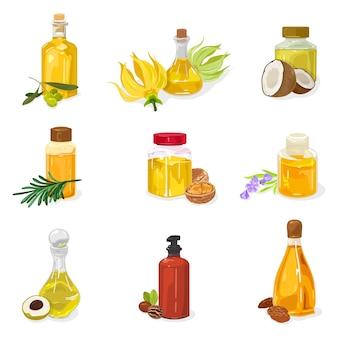 Óleo essencial de azeitonas ylang ylang coco pinheiro siberiano