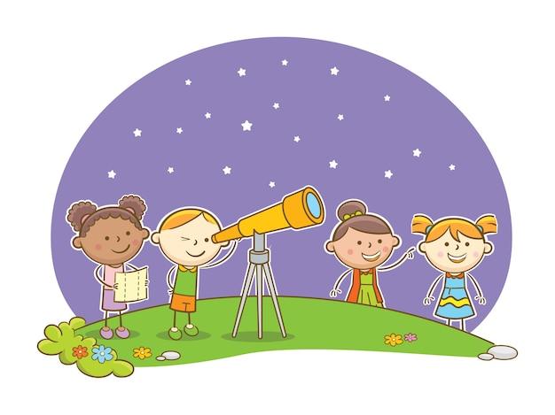 Olhando para estrelas