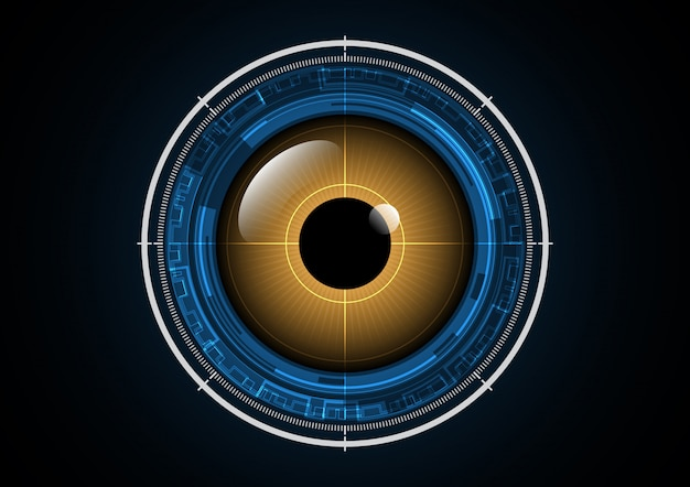 Olho biônico futurista