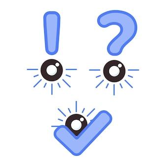 Olho com ícone de sinal de informação. ícone de saúde ocular para o conceito do dia da visão mundial. no fundo branco