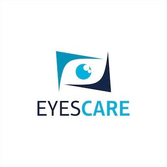 Olho cuidados logotipo simples símbolo moderno