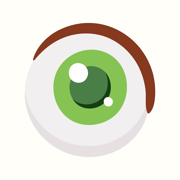 Olho de desenho animado. ilustração vetorial em estilo simples
