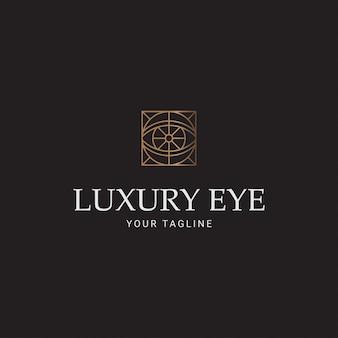 Olho de luxo de linha de logotipo