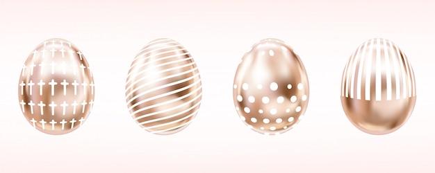 Olho-de-rosa ovos com cruz branca