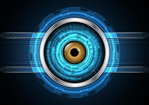 Olho futurista de tecnologia abstrata