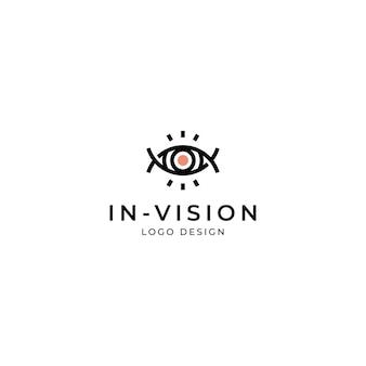 Olho, modelo de design de logotipo de visão