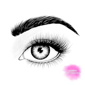Olho preto e branco