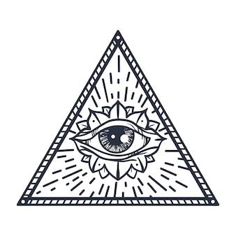 Olho que tudo vê no triângulo